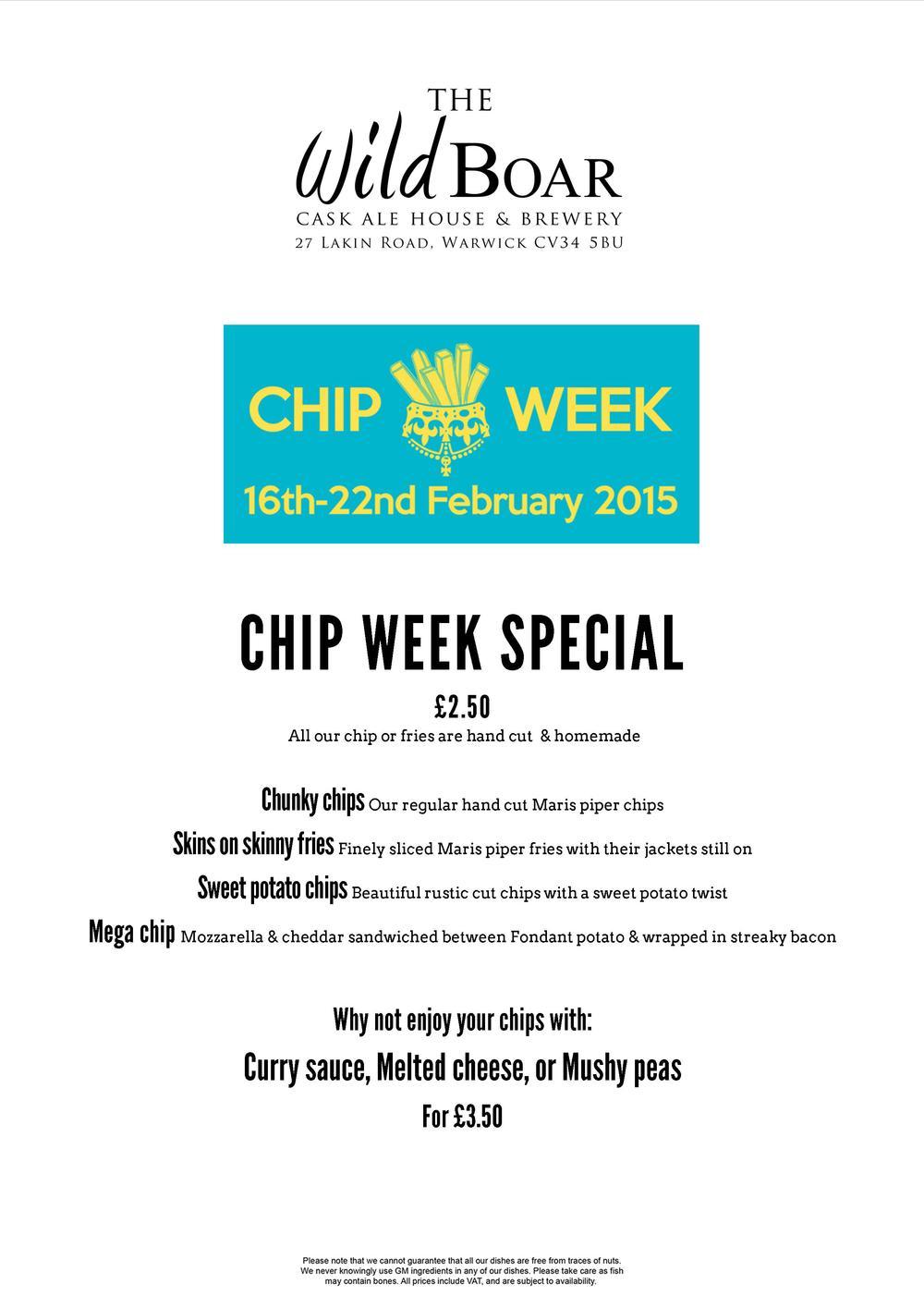 chip week menu
