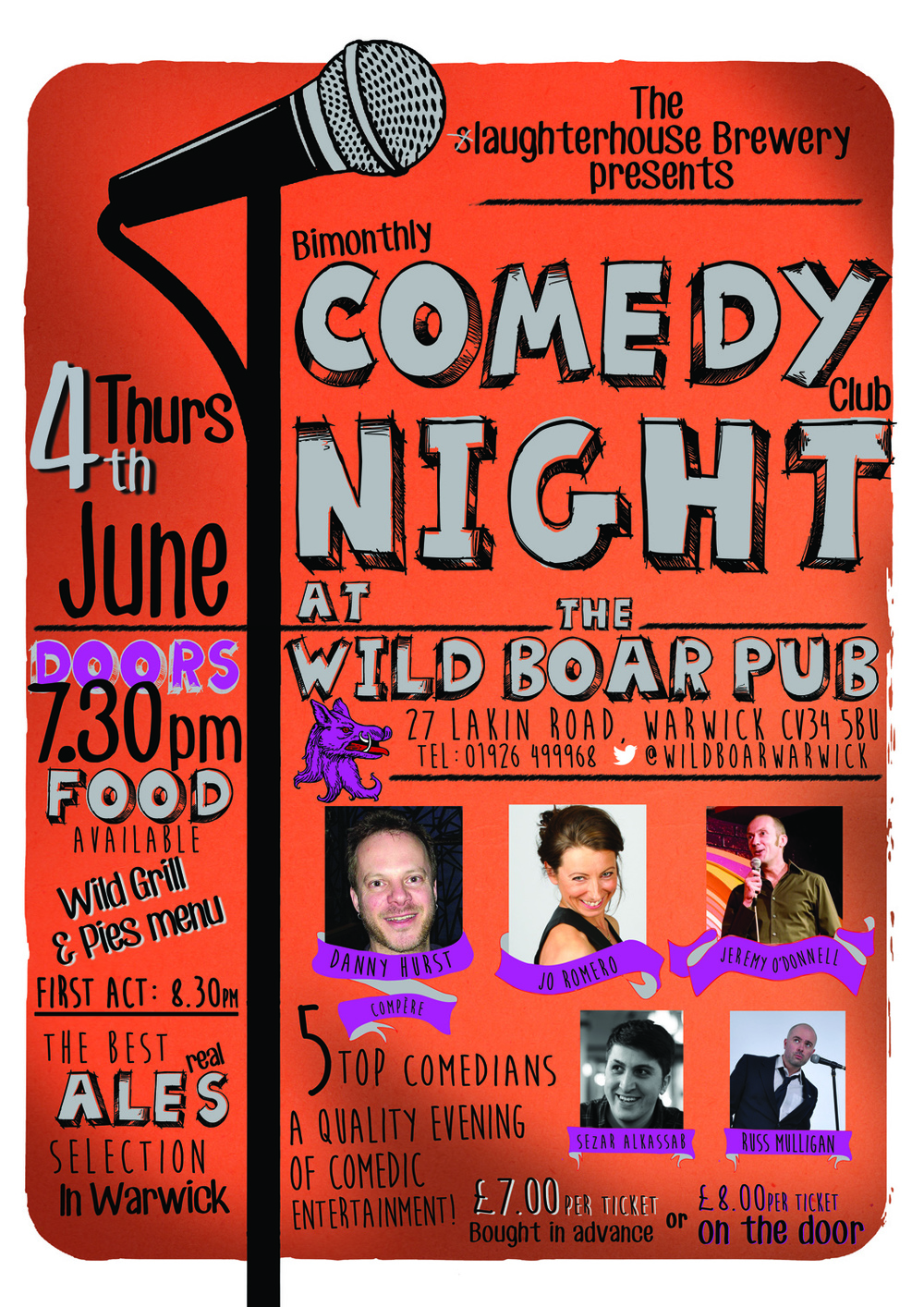 Comedy 4th June poster