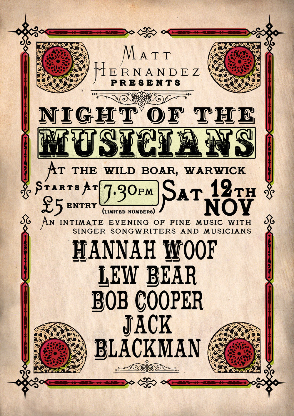 Night of Musicians poster