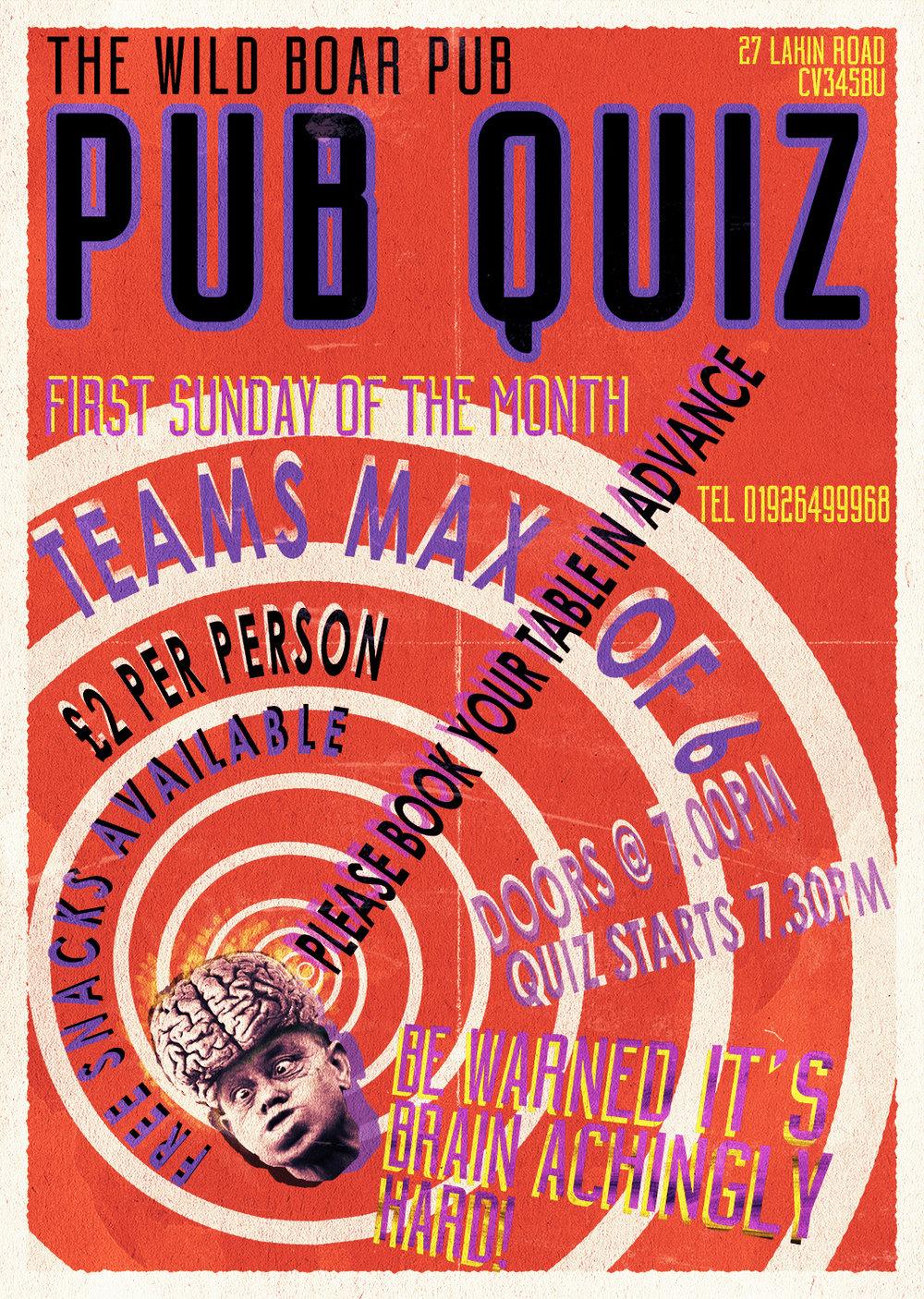 Pub Quiz poster