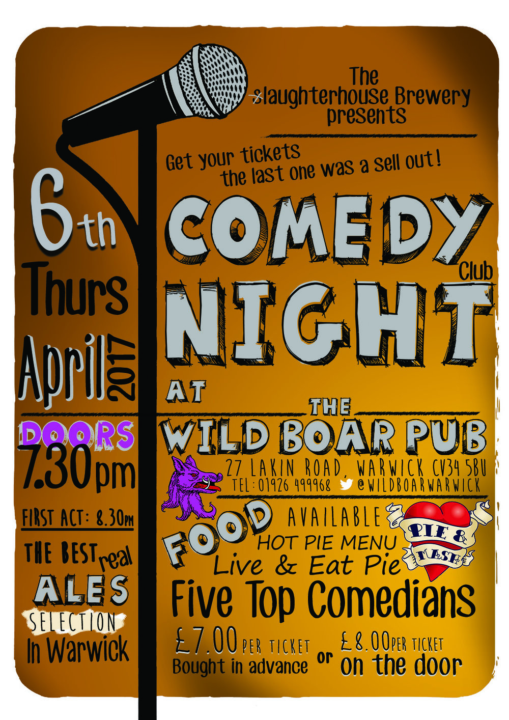 Comedy night at the wild boar