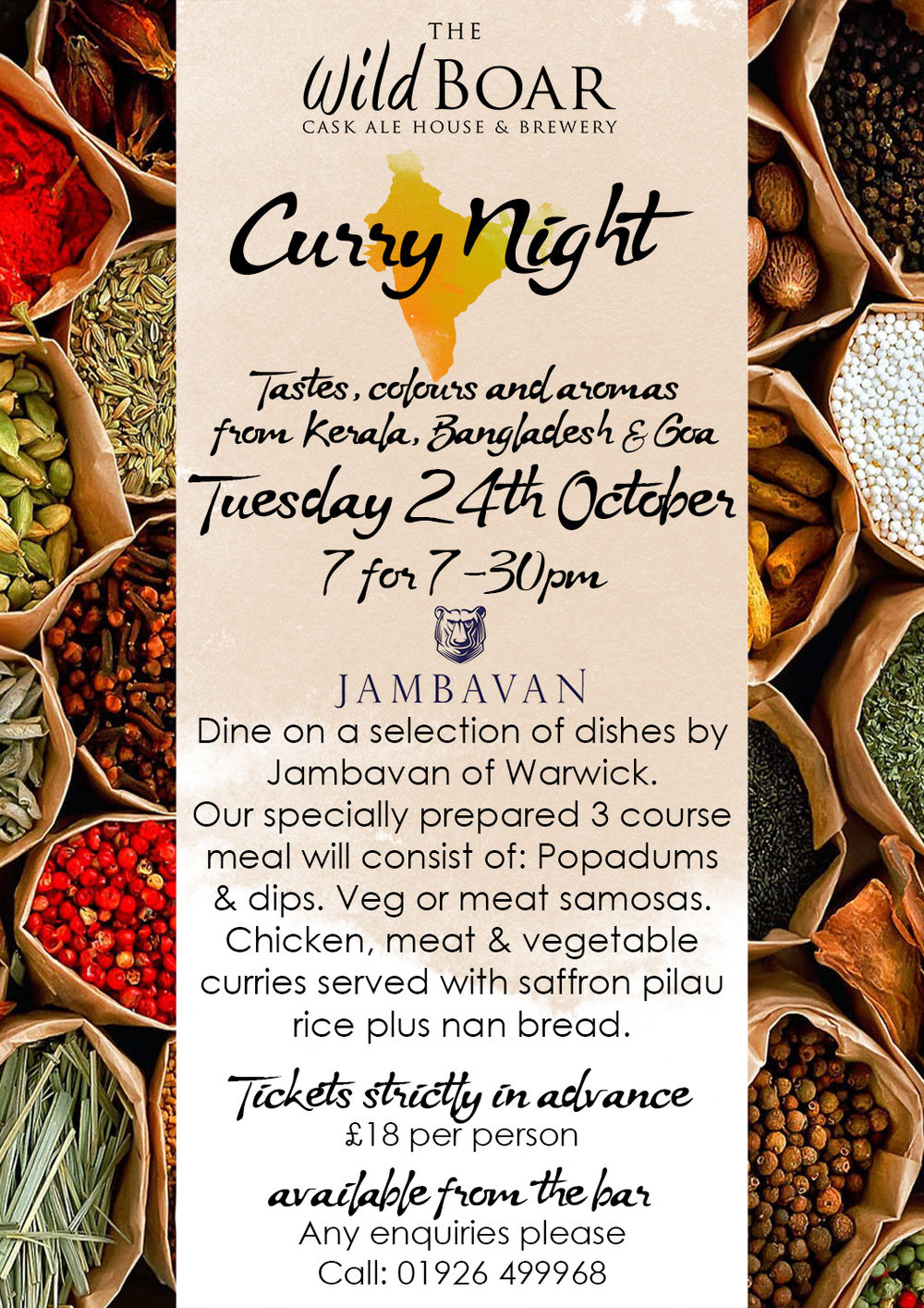 Curry night poster