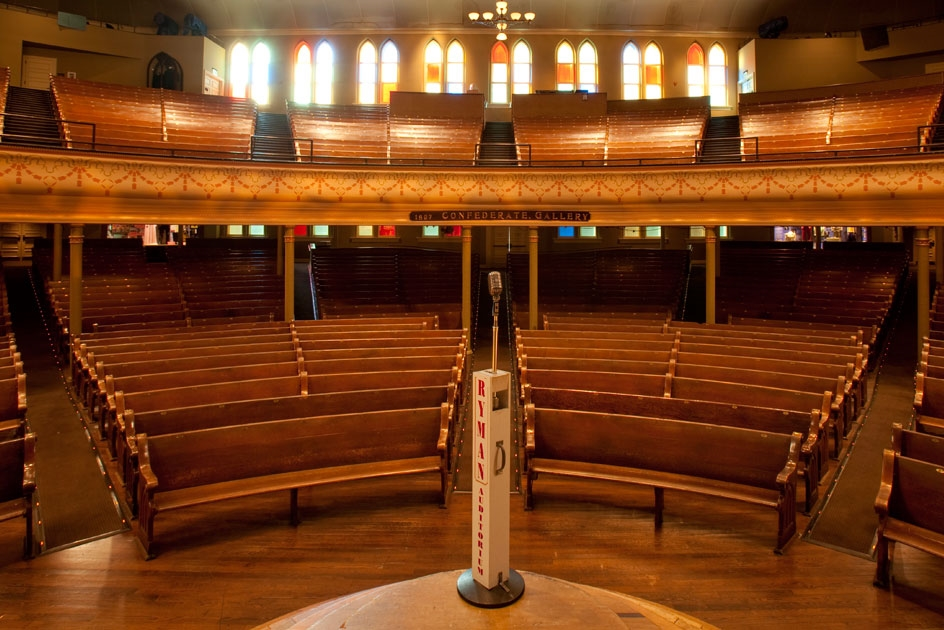 Countless music legends have taken the stage at the historic Ryman Auditorium