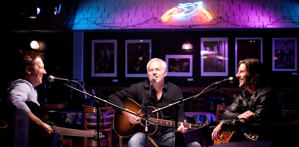 Songwriters sit center stage at the famed Bluebird Cafe.