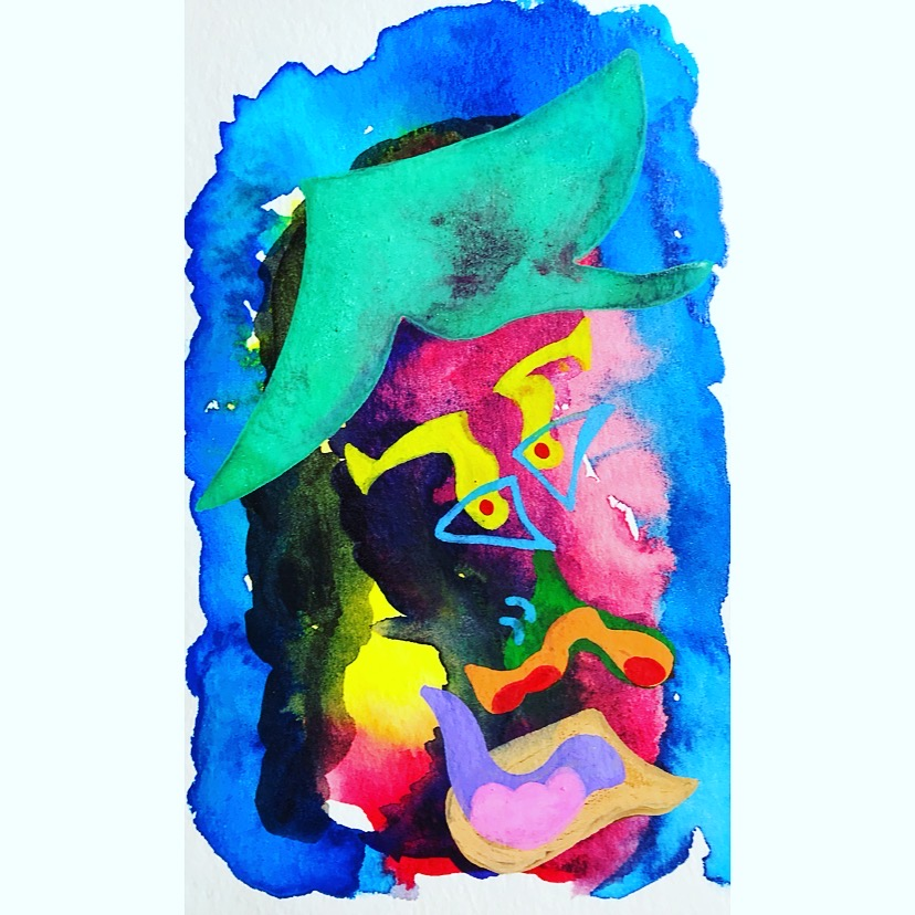 Untitled   2018  Watercolor, Guache  4 x 6 inches
