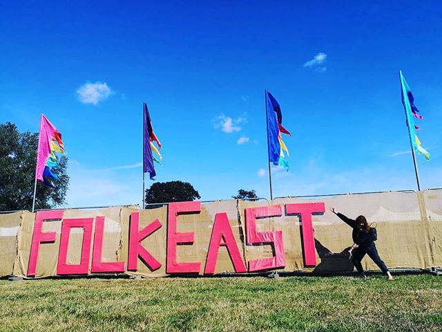 @folkeast I've arrived and I LOVE it here! I'm on the sunset stage this afternoon. #folkfest #musicfestival #folkeast #livemusic #lush