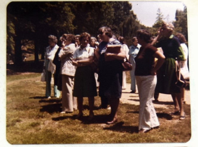 RGC members attend the dedication in 1976