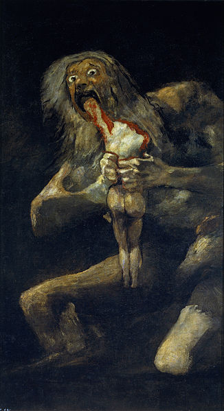 Saturn Devouring His Son by Spanish artist Francisco Goya.