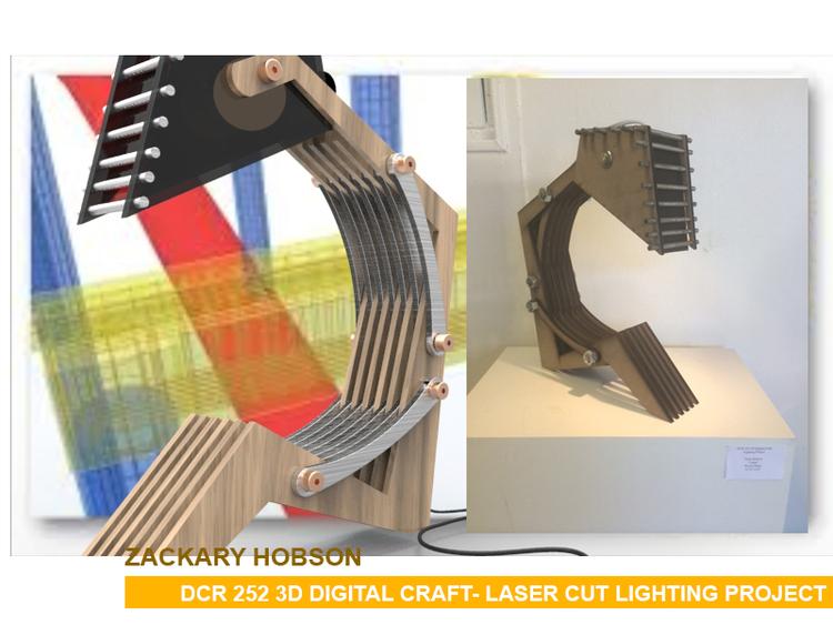 Ccs 3d Digital Craft Class Laser Cut Light Design Project Pj Chen