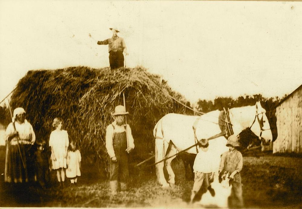 Very early farm photo of the Tuchowski Family Farm.