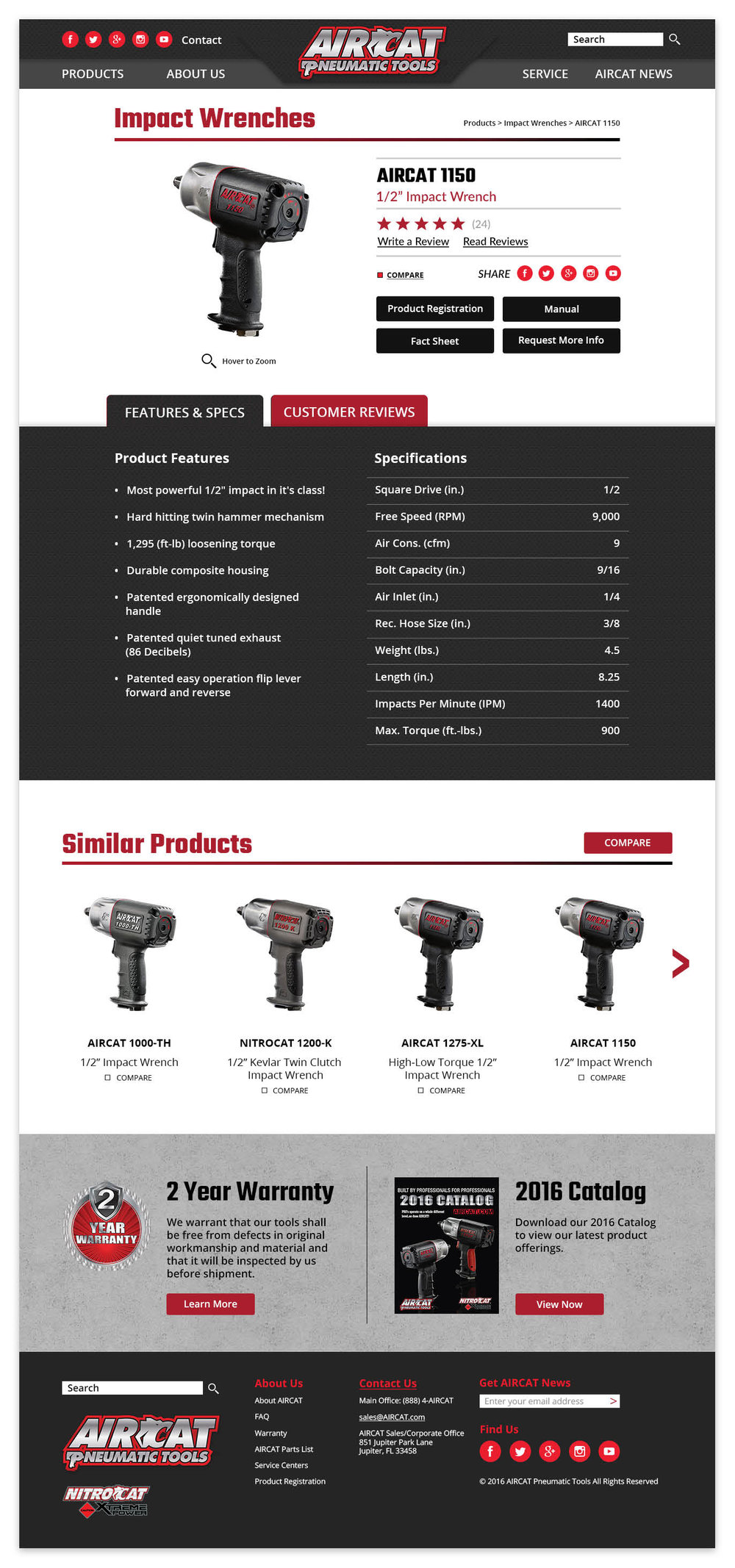 AIRCAT Product Detail Page