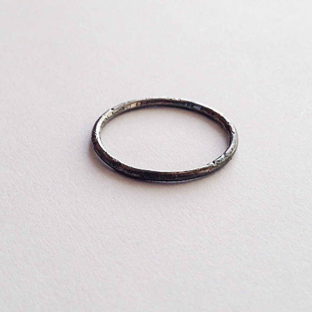 Silver Oxidized Halo by Firewhite | Durham, England | Keeper & Co. Blog