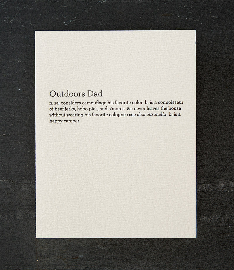 Outdoors Dad Card | Finds for Father Figures | Keeper & Co. Blog