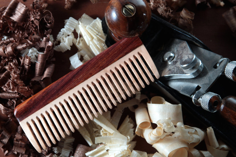 Handmade Wooden Comb by Big T Woodworks | Finds for Father Figures | Keeper & Co. Blog