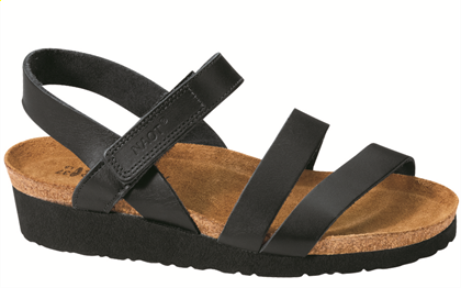 Kala in Black Matte Leatherby Naot| Sustainable Summer Sandals | Keeper & Co. Blog