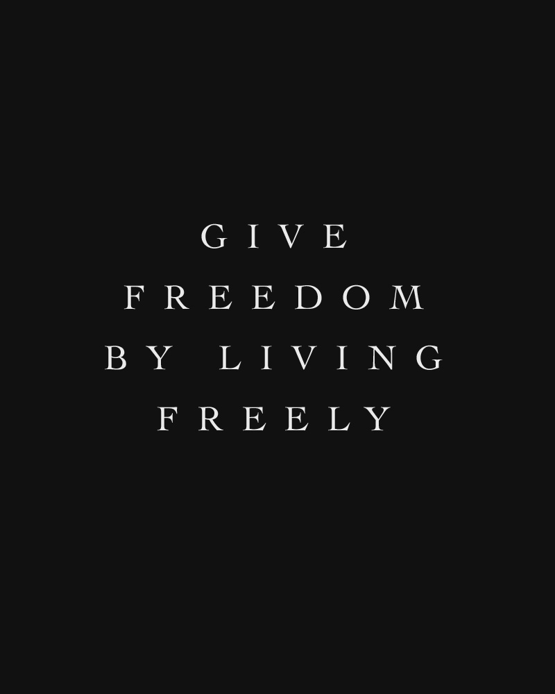Give Freedom by Living Freely | Finding Freedom in Following our Own Trends | Keeper & Co. Blog