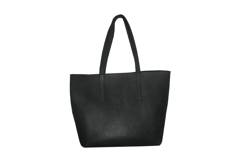 Black Leather Tote by WalkaholicS | 6 Eco-Friendly Tote bags | Keeper & Co.