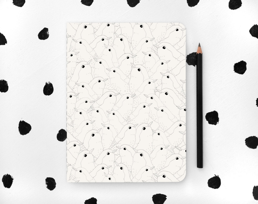 Bird Patterned Notebook