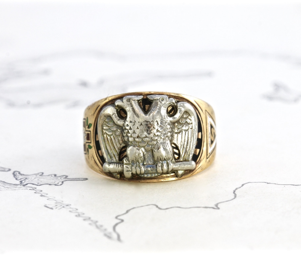 1915 Scottish Rite Freemason Signet Ring | Vintage & Ethical Signet Rings | Keeper & Co. Blog