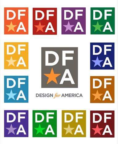 DFA logo on logo on logo on logo