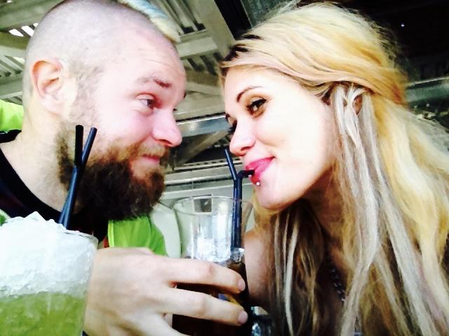 Celebrating with my husband, amazing artist Frank Styles.