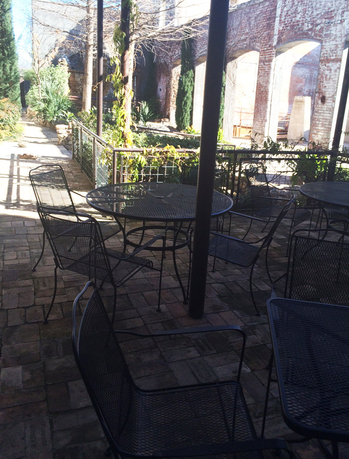 Enjoy a beautiful day out on our patio!