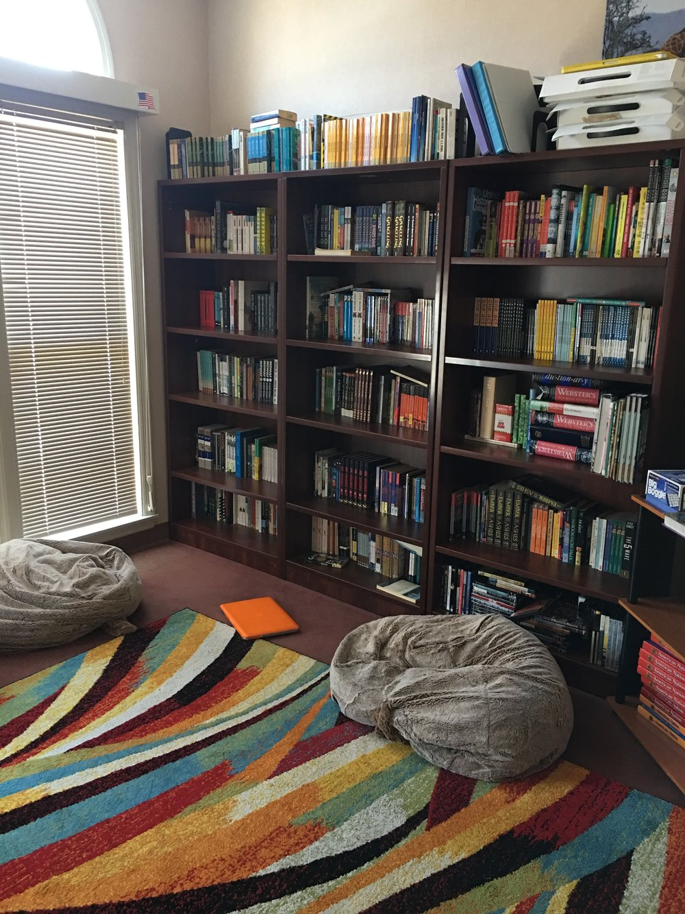 A quiet reading room for students. Photo by Ilene B. Miller