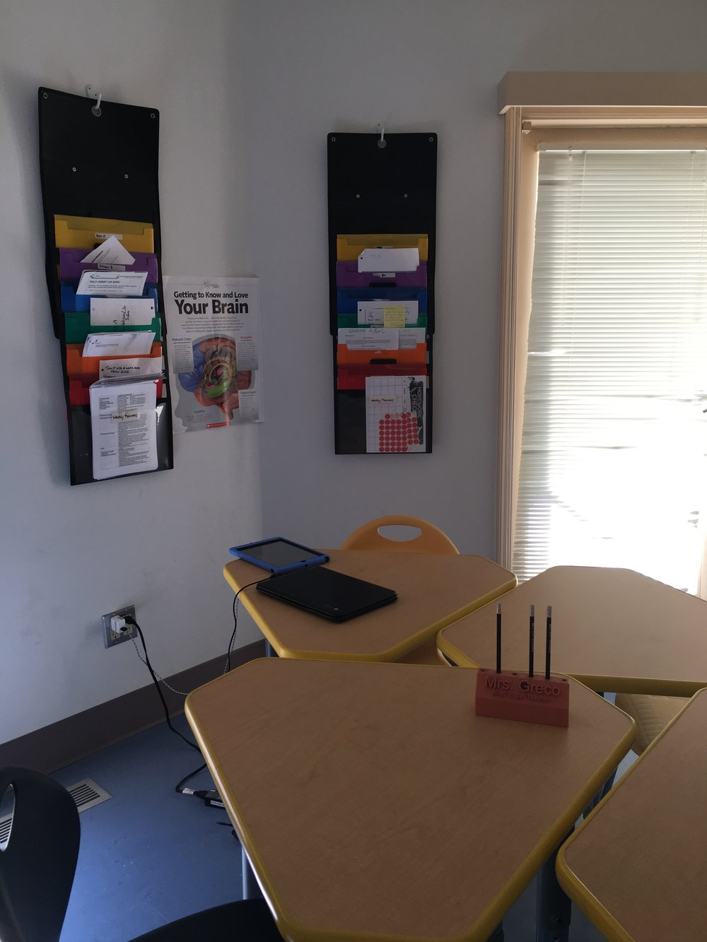 A colorful classroom. Photo by Ilene B. Miller