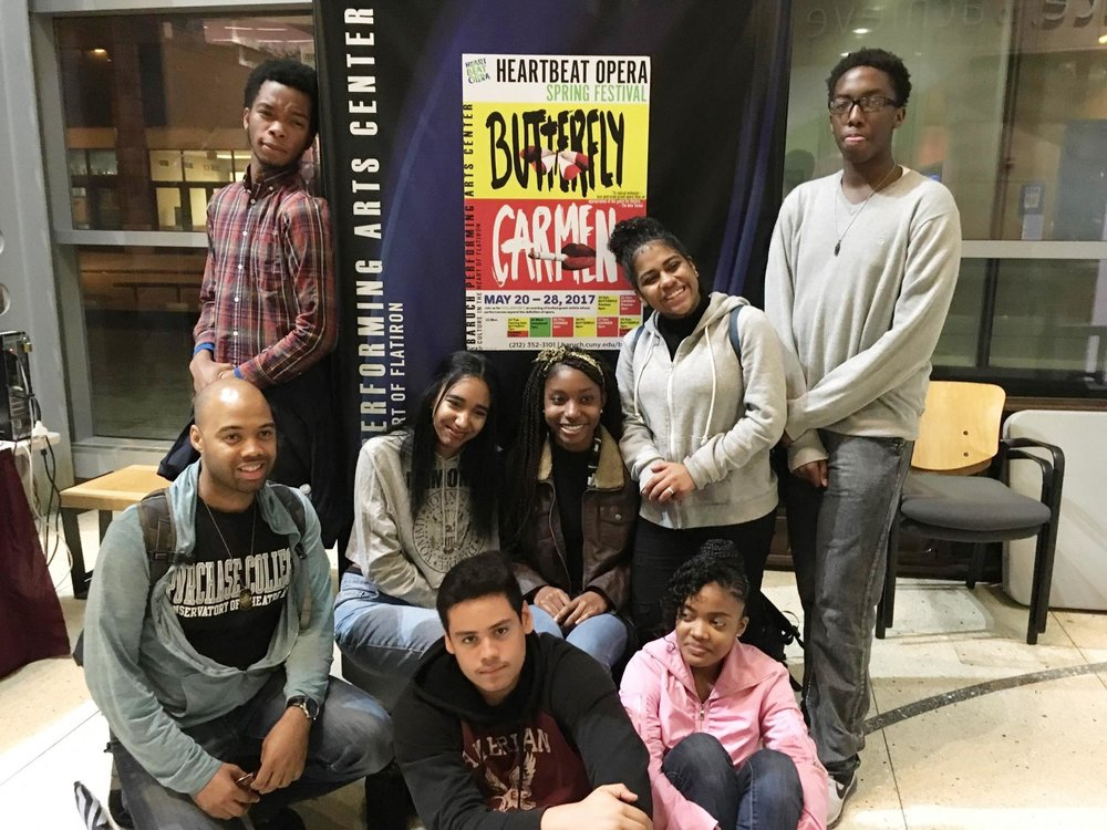 Police Athletic League Acting teens attend Heartbeat Opera's BUTTERFLY at Baruch College