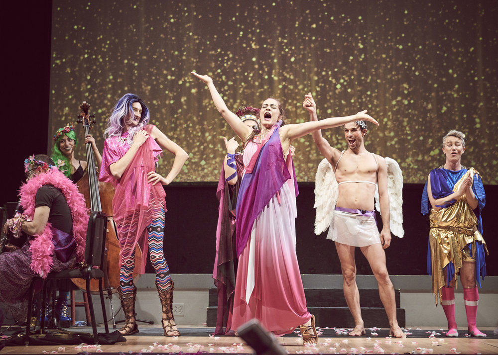 DRAGUS MAXIMUS - A Homersexual Opera OdysseyOctober 26-27, 2018@ Roulette, BrooklynAll roads lead to Rome… and to Heartbeat Opera's fifth annual Halloween Drag Extravaganza! Grab your golden fleece and catch a chariot down to Brooklyn's Colosseum (aka Roulette) for an operatic, Greco-Roman orgy of gorgeous gladiators and glam goddesses. Join Homer and Sappho in a Herculean quest to Hades and back -- featuring the siren songs of Monteverdi, Handel, and Offenbach, plus a brand new number by Vavrek and Schlosberg. When in Rome…