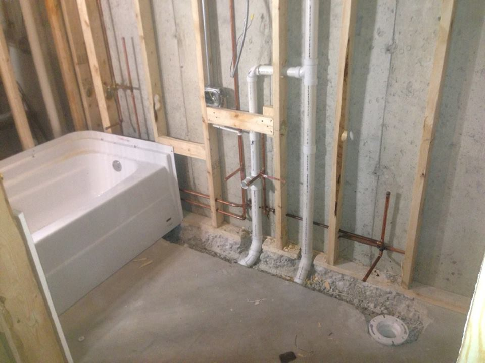 Palos heights plumber kevin szabo jr plumbing plumbing services tinley park il for How to plumb a basement bathroom