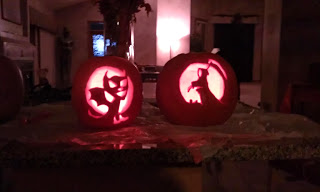 My wife and I carved these two years ago.