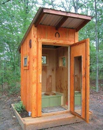 Traditional Outhouse