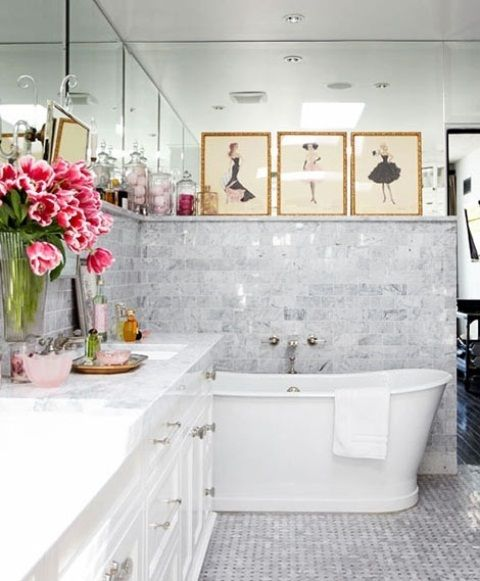Beautiful Feminine Bathroom