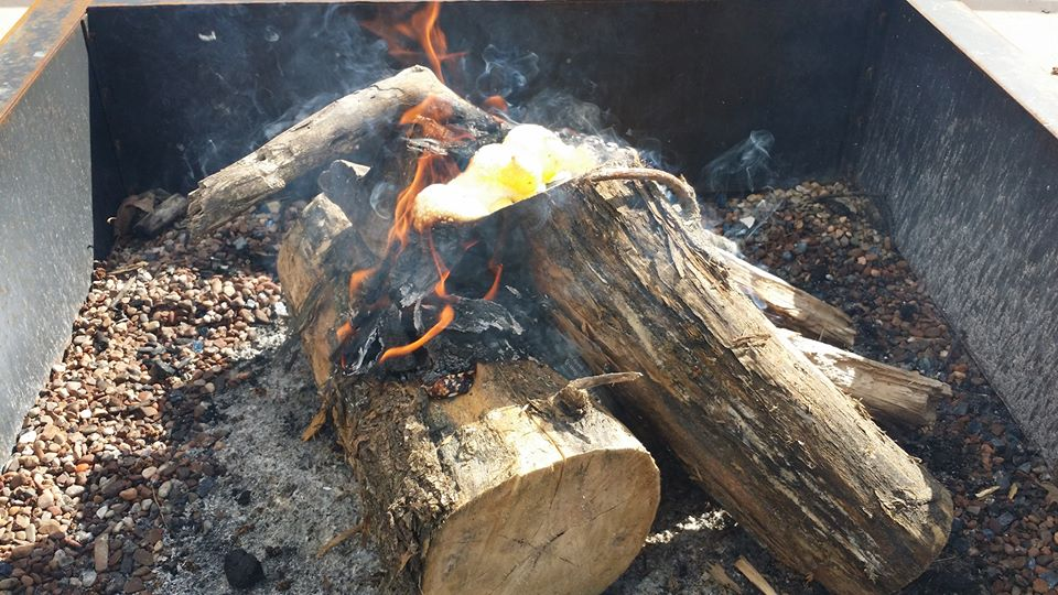 peeps on fire