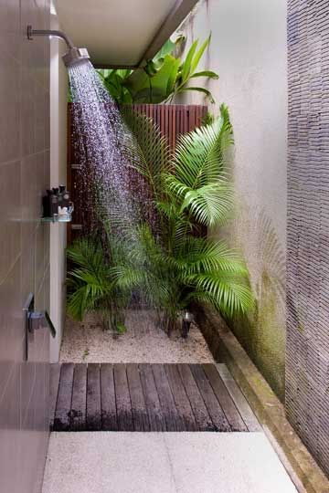 Simple Outdoor Shower