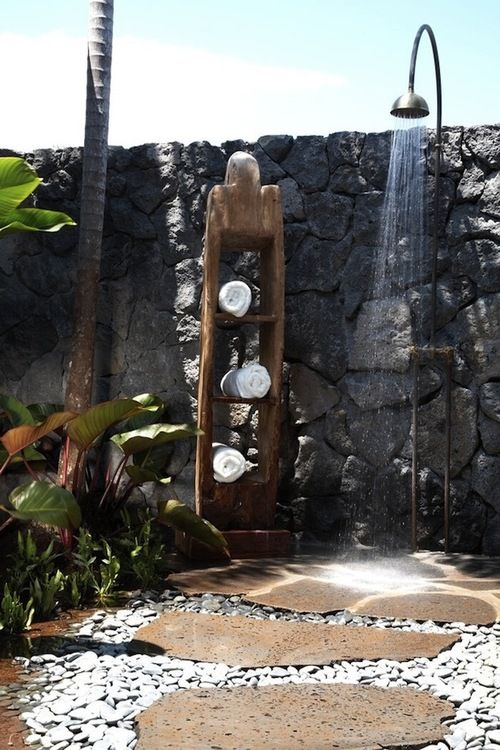 zen like outdoor shower