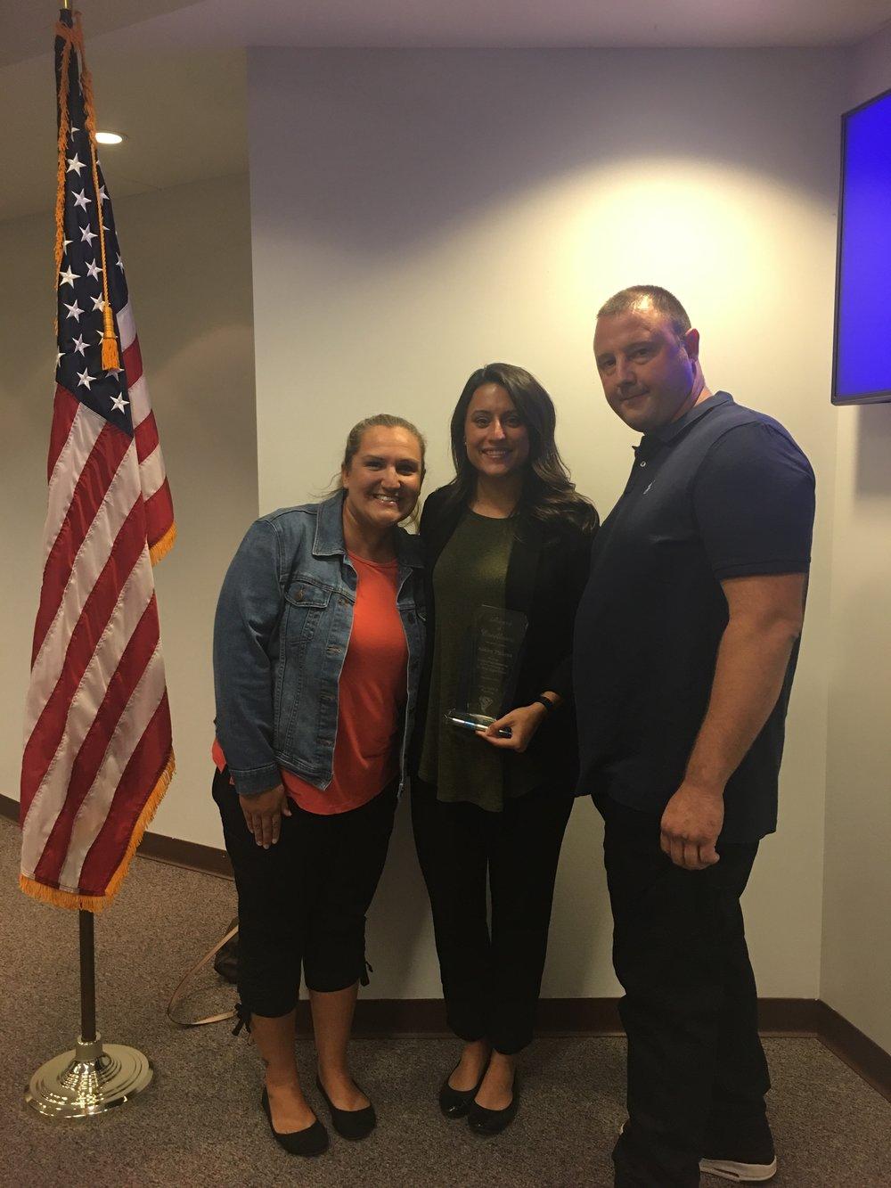 Teacher Appreciation Award    Ms. Ashley Pickens from Dr. Julian Rogus School, Summit Hill School District 161, Frankfort IL