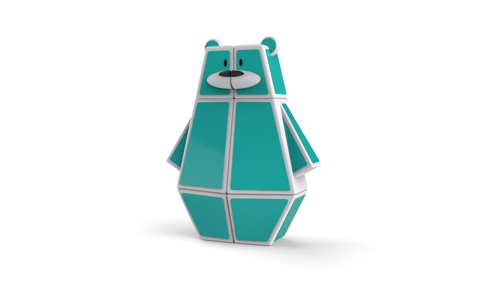The 1x2x3 Ozo Bear. A twisty puzzle with some personality.
