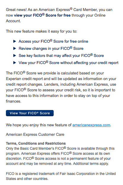 Sample FICO Credit Offer