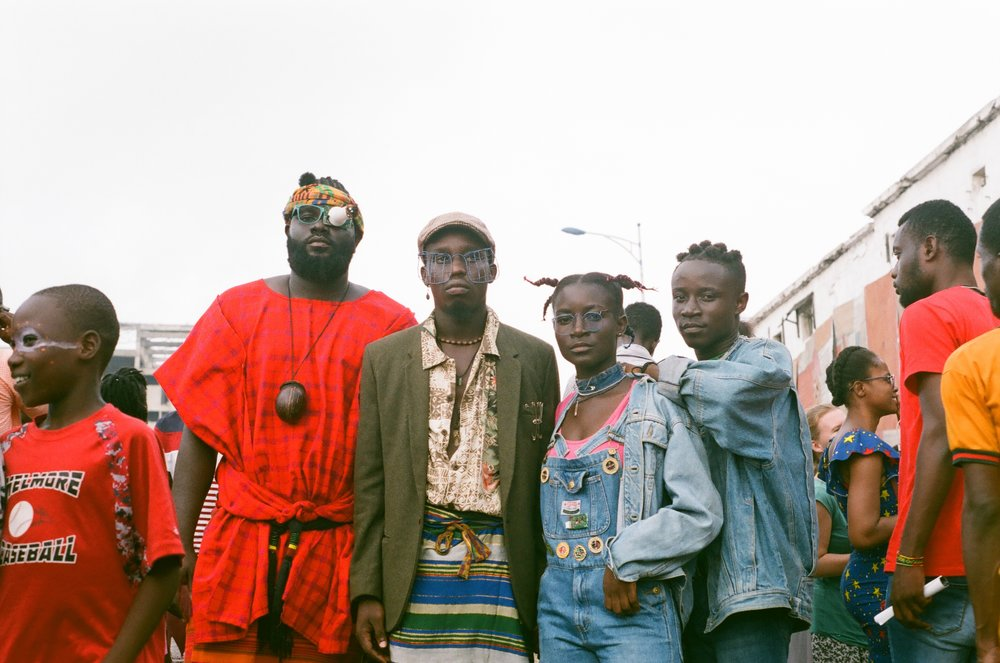Festival goers at 2018's Chale Wote Street Festival in Accra, Ghana.