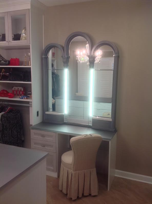 custom made vanity mirror with LED lighting