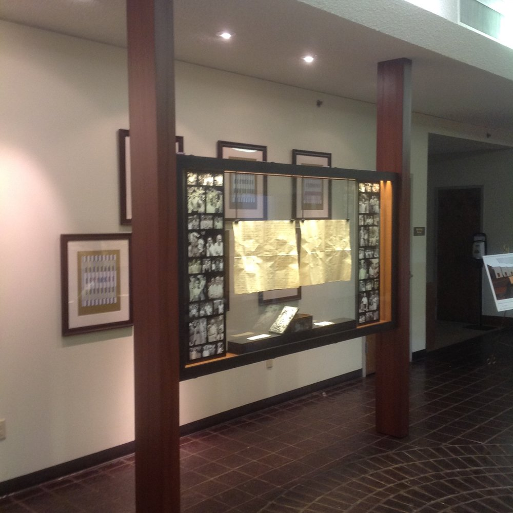 custom display case for Beth El synagogue in Mt. Lebanon