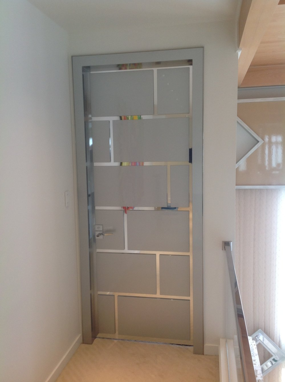 stainless steel and nuvacor bedroom door