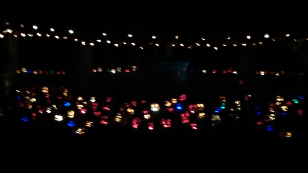 OMG see all those colorful dots? Jack-o-lanterns.  @_@
