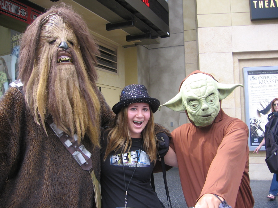 With my Chewbaka-like hair and Yoda-like social skills, this is a true family portrait.