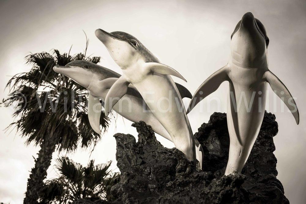 Three Dolphins Statue, Barrels Restaurant, IB