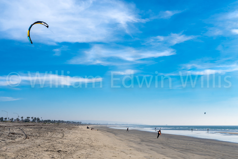 Walking the Kite - Silver Strand, CA