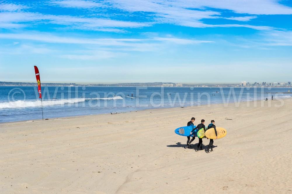 Three Surfers - Imperial Beach, CA