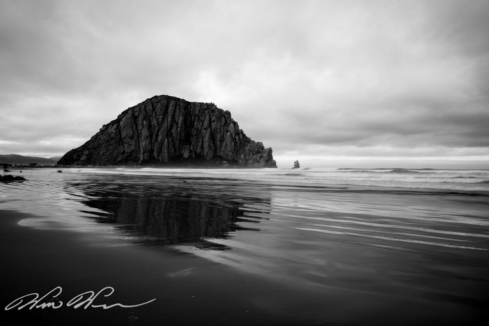 Reflection at Morro Rock - Morro Bay, CA